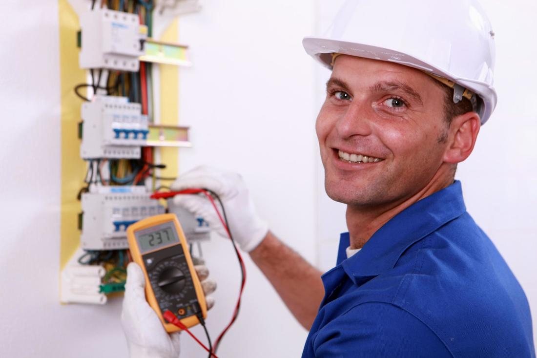 This is a picture of an electrician.
